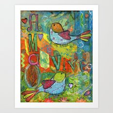 Live for Love, Love to Live Art Print