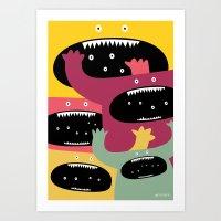 Monster medley. Art Print