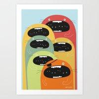 Monster gang. Art Print
