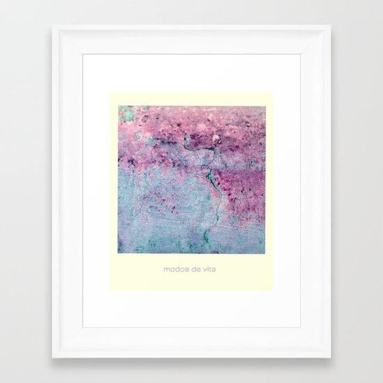 modos de vida Framed Art Print