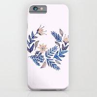Blue Wreath iPhone 6 Slim Case