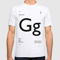 Gill Sans Mens Fitted Tee Ash Grey SMALL