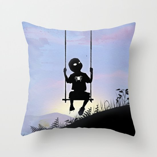 Spider Kid Throw Pillow