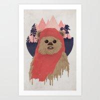 Ewok Art Print