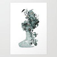 Freya's Hair (Teal) Art Print