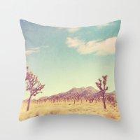 Joshua Tree photograph. desert print, No. 189 Throw Pillow