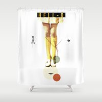 Cut The (...) | Collage Shower Curtain