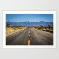Desert Road Art Print
