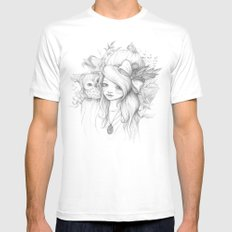 These Seasons Will Change White Mens Fitted Tee SMALL