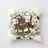 My Father Was A Sailor, … Throw Pillow