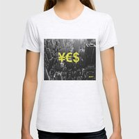 YES NYC Womens Fitted Tee Ash Grey SMALL