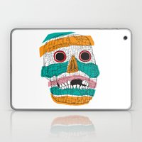 Stripy Skull  Laptop & iPad Skin