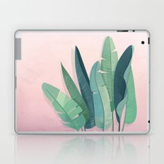 Tropical plants on pink background Laptop & iPad Skin