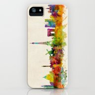 iPhone & iPod Case featuring Paris Skyline Watercolor by ArtPause