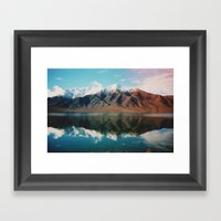 New Zealand Glacier Land… Framed Art Print