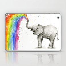 Baby Elephant Spraying Rainbow Whimsical Animals Laptop & iPad Skin