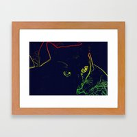 Pillow Hog Framed Art Print