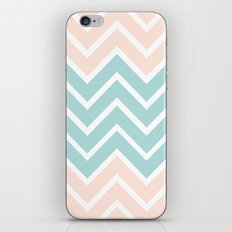 PEACH & BLUE CHEVRON iPhone & iPod Skin