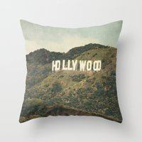 Hollywood (color) Throw Pillow