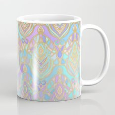 Jade & Blue Enamel Art Deco Pattern Mug