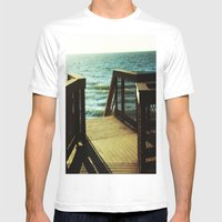 Seaside Dreaming Mens Fitted Tee White SMALL