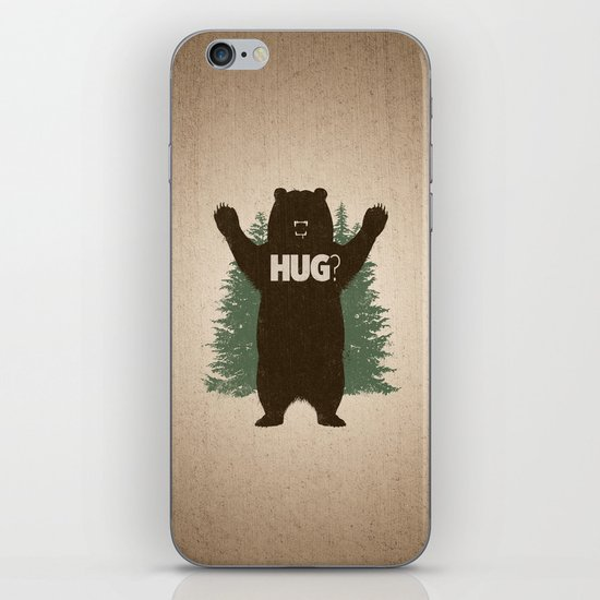 Bear Hug iPhone & iPod Skin