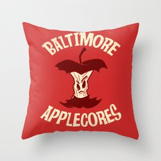 Applecores Throw Pillow
