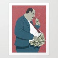 Money Belly Art Print