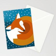 Sleeping Fox in Winter Stationery Cards
