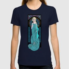 The Ice Queen Womens Fitted Tee Navy SMALL