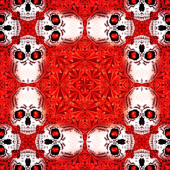 Crystals & Skulls pattern Art Print