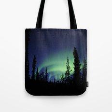 Aurora Borealis Landscape Tote Bag