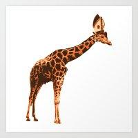 Giraffe Pope Art Print