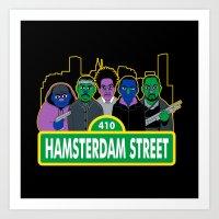Hamsterdam Street Art Print