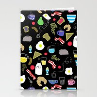 Breakfast Pattern Stationery Cards