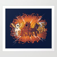 Four Little Ponies Of Th… Art Print