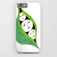 """iPhone & iPod Case featuring """"Green Peas in a Pod"""" by Holly Lynn Clark"""