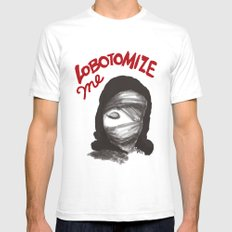 Lobotomize me. White SMALL Mens Fitted Tee