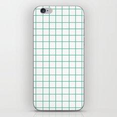 Grid (Mint/White) iPhone & iPod Skin