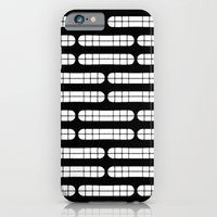 iPhone & iPod Case featuring Grift Black & White Pattern by Stoflab