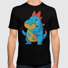 Croconaw SMALL Mens Fitted Tee Black
