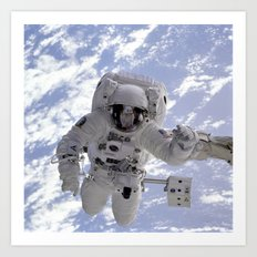 Astronaut Floating Befor… Art Print
