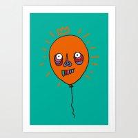 Halloween Balloon Art Print