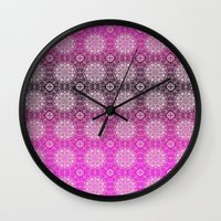 Lacey Ombre' Mandalas Wall Clock