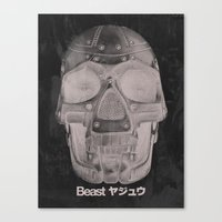 RoboSkull Canvas Print