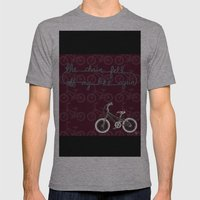 The chain fell off my bike Mens Fitted Tee Athletic Grey SMALL