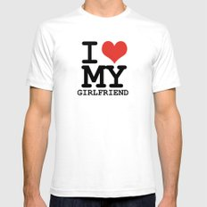 I love my girlfriend Mens Fitted Tee SMALL White