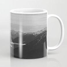 Mountain Landscape Black and White Mug