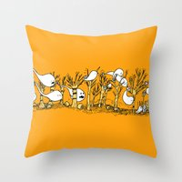 Ghost Houses  Throw Pillow
