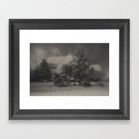 Home Covered In Snow Framed Art Print
